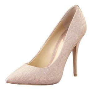 B Brian Atwood Desire Pumps Shimmer Pink Sz 7